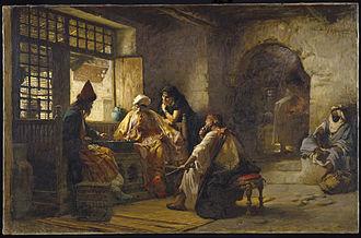 Frederick Arthur Bridgman - An Interesting Game, ca 1881