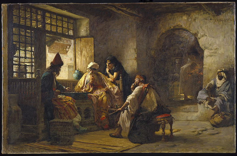 File:Frederick Arthur Bridgman - An Interesting Game - Google Art Project.jpg