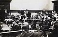 Frederick and Emmeline Pethick Lawrence, Emmeline Pankhurst and (Mabel Tuke) in court, 1912. (22910622782).jpg