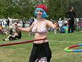Fremont Solstice Parade 2007 - hula hoops at Gasworks 15-2.jpg