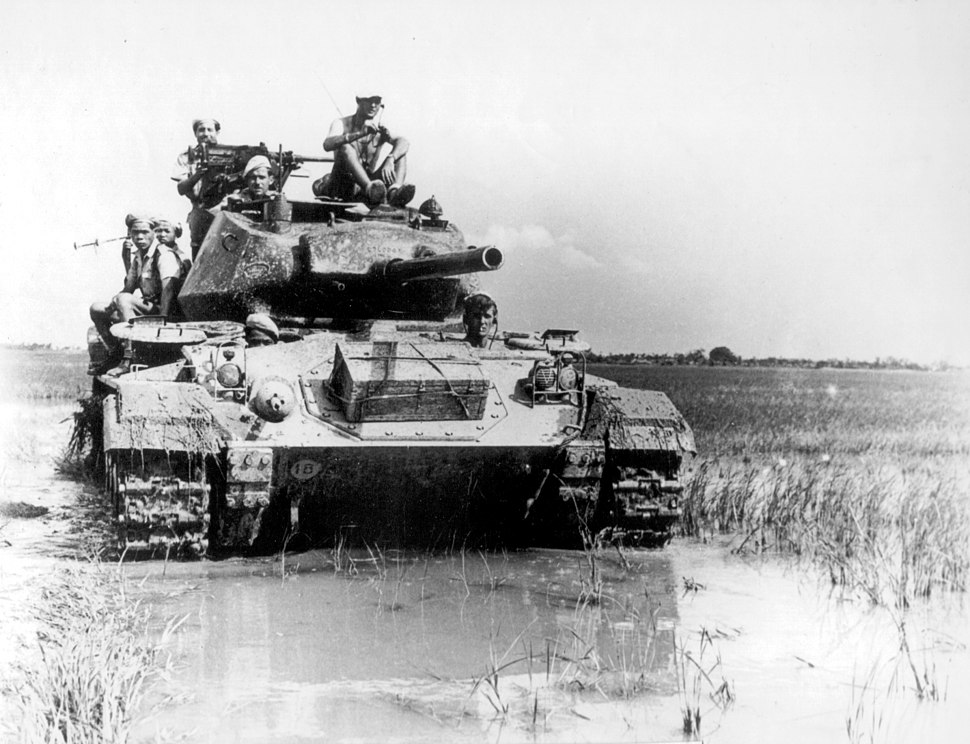French M24 Chaffee Vietnam