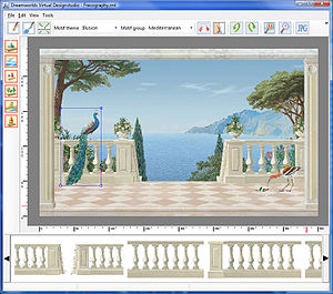 Frescography - Screenshot of a CAM programm for the design of frescographies.