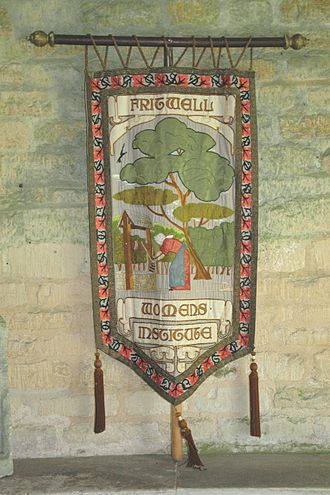 Fritwell - Banner in St Olave's church for Fritwell Women's Institute