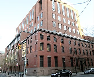 Thompson Street (Manhattan) - Image: Furman Hall NYU Law School from West 3rd and Thompson Streets