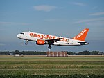 G-EZBJ easyJet Airbus A319-111 cn3036 takeoff from Schiphol (AMS - EHAM), The Netherlands pic2.JPG