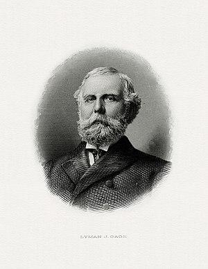 Lyman J. Gage - Bureau of Engraving and Printing portrait of Gage as Secretary of the Treasury.