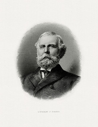 Lyman J. Gage - Bureau of Engraving and Printing portrait of Gage as Secretary of the Treasury.