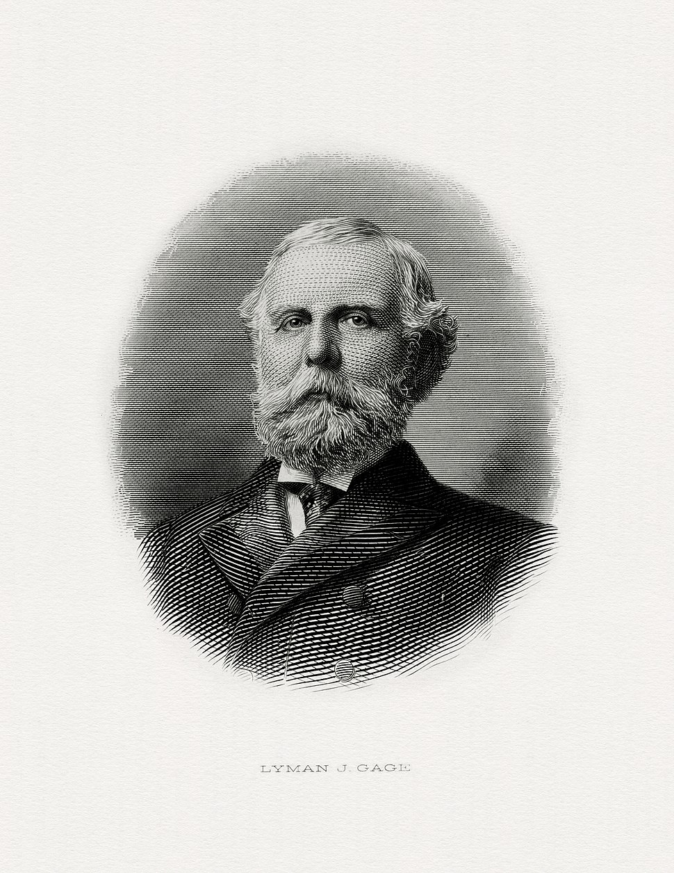 GAGE, Lyman J-Treasury (BEP engraved portrait)