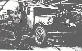 Ford Model AA - Final assembly of the GAZ-AA., 1943