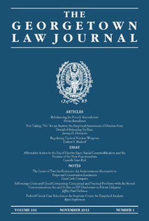 Georgetown Law Journal - Image: GLJ COVER