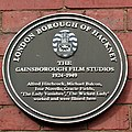 Gainsbrough - London Borough of Hackney Blue Plaque (cropped).JPG