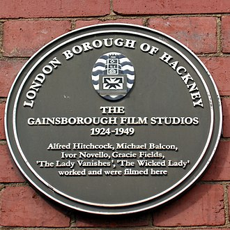 Gainsborough Pictures - Plaque on the site that housed the Poole Street studio