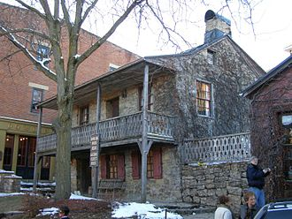 Galena, Illinois - The Dowling House (1826–27) is the oldest building in Galena