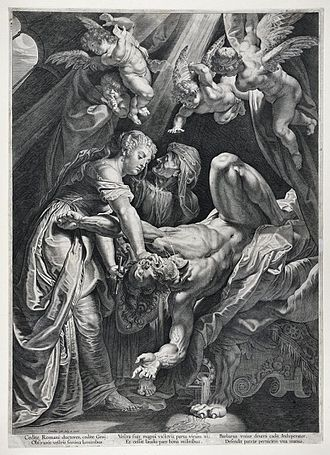 Judith beheading Holofernes - Judith beheading Holofernes (ca. 1610), by Cornelis Galle the Elder - Warsaw University Library.