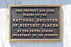 Garfield School (Brunswick, New York) - Plaque commemorating addition to the NRHP
