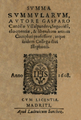 Gaspar Cardillo de Villalpando (1608) Summa Summularum.png