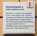 Gedenktafel Heinrichsplatz 6 (Meißen) Hotel Goldener Löwe.jpg