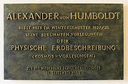 Gedenktafel Unter den Linden 6 (Mitte) Alexander von Humboldt