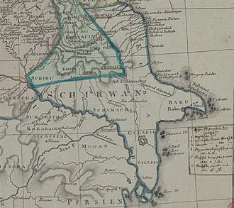 Shirvan - Shirvan from map of the Caucasus by Johann Christoph Matthias Reinecke. 1804