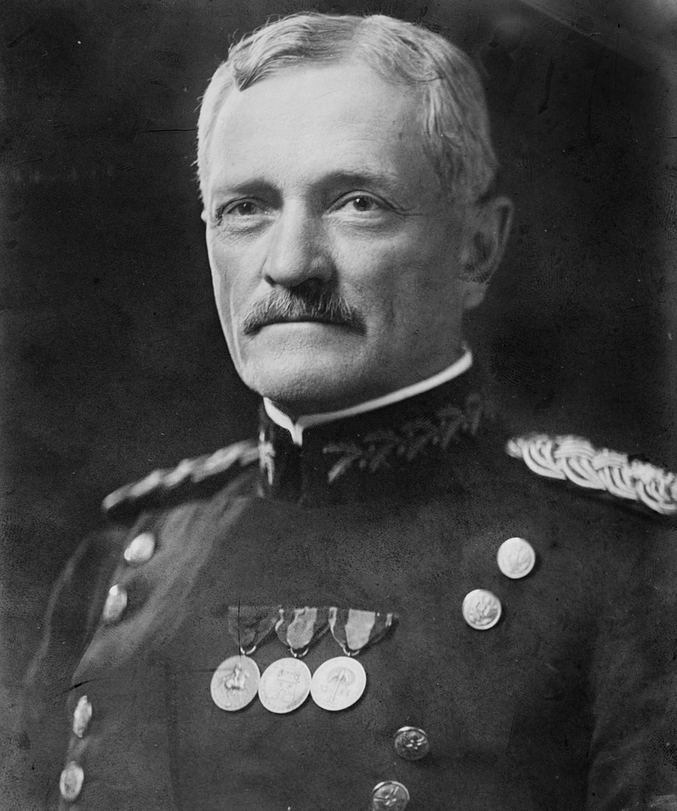 General John Joseph Pershing head on shoulders