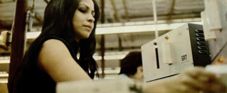 General Recorded Tape - Veronica Herrera, at a GRT 8-track assembler, 1970