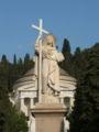 Genova - Cimitero di Staglieno - Statua della Fede e Pantheon-3.jpg