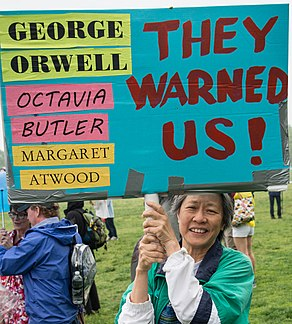 George Orwell, Octavia Butler, and Margaret Atwood Warned Us (34078351001).jpg