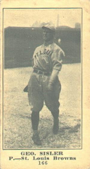 George Sisler - 1916 D350 George Sisler baseball card