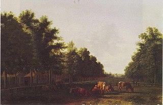View of the Haarlemmerhout with the Kleine Houtpoort, Haarlem