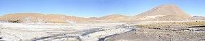El Tatio - The sinter landscape formed at El Tatio