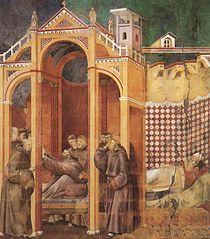 Apparition à Fra Agostino et à Bishop Guido d'Arezzo