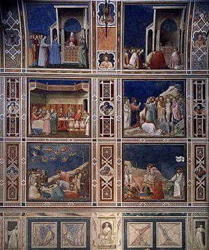 Decorative bands in the Scrovegni chapel
