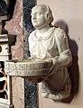 Giovan battista bava, acquasantiera con la vestale tuccia che porge il setaccio, 1552, 03.JPG