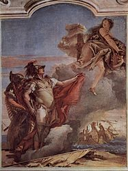 Giovanni Battista Tiepolo: Vénus quitte Énée et Acate devant Carthage