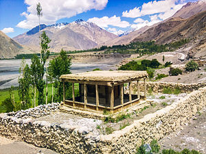 Gircha - Gircha Bibi Nekbakht Mosque, relocated after erosion