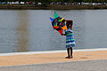 Girl with a kite in front of the Tidal basin.jpg