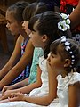 Girls at Wedding - Former Dominican Church of the Holy Spirit - Vilnius - Lithuania (27266455053) (2).jpg