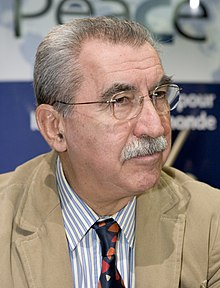 Giulietto Chiesa à la conférence Axis for Peace en 2005.