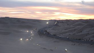 Algodones Dunes - Holiday Weekend Traffic On The Dunes From Off-Roaders - Presidents Day Weekend.