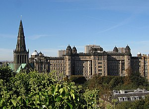 English: Glasgow Cathedral and Royal Infirmary