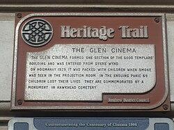 Photo of Glen Cinema brown plaque