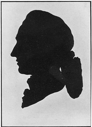 Papercutting - A silhouette of Goethe (1778).