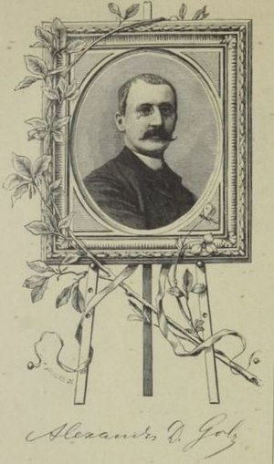 Alexander Demetrius Goltz - Self-portrait; from the Neue Illustrirte Zeitung (1889)