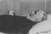 И.А.Гончаров на смертном одре. Петербург. 1891.