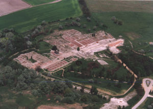 Keszthely culture - Aerial photography: Gorsium - Herculia (Tác, Hungary), an urban center of the Keszthely culture
