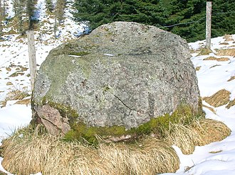 Gowk stane - The gowk stane at Laigh Overmuir.