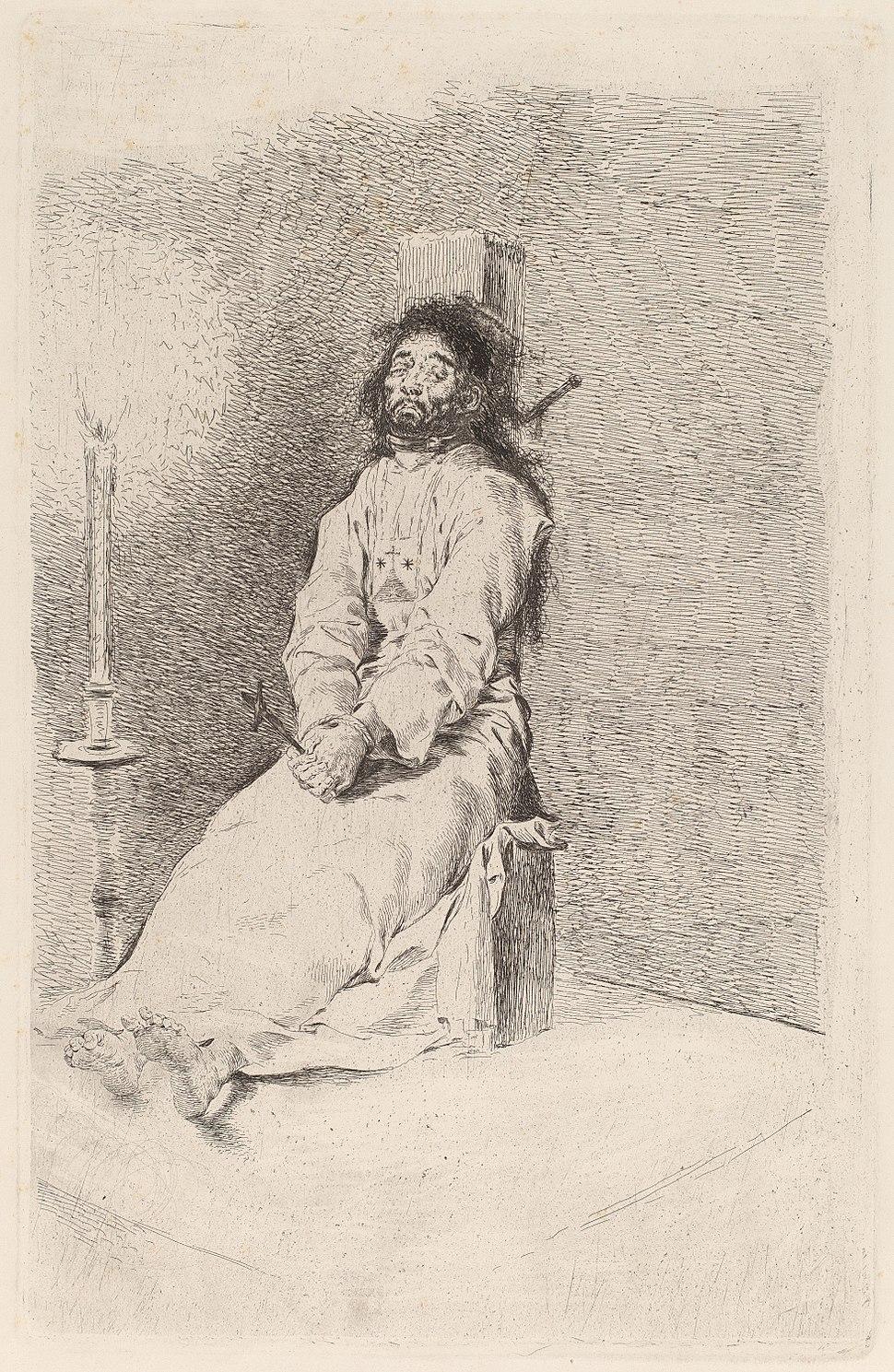 Goya - The Garroted Man