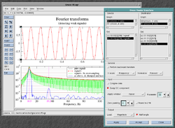 Preview of Grace-6, showing the Fourier transform dialogue