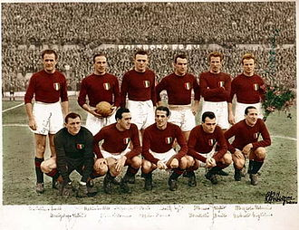 Grande Torino - A formation of the Grande Torino, multiple champions of Italy