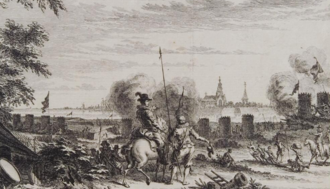 Siege of Grave (1602) - Siege of Grave in 1602 - from a print by Simon Fokke
